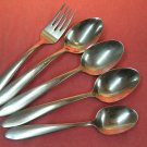 ONEIDA GLISSADE SALAD FORK & 4 SPOONS STAINLESS FLATWARE SILVERWARE
