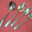 NATIONAL NST 42 NST42 LADLE &3 SPOONS NS NASCO STAINLESS FLATWARE SILVERWARE