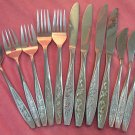 EKCO EKS 15 EKS15 12pc ETERNA STAINLESS STEEL FLATWARE SILVERWARE