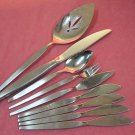 ONEIDA SATINIQUE 9pc COMMUNITY STAINLESS FLATWARE SILVERWARE