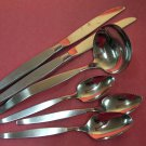 ONEIDA FROSTFIRE COMMUNITY LADLE &3 SPOONS 2KNIVES STAINLESS FLATWARE SILVERWARE