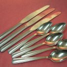 REED & BARTON RDS 51 RDS51 5 TEASPOONS &3 KNIVES STAINLESS FLATWARE SILVERWARE