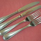 REED & BARTON BOSTON PEARL 2 KNIVES &2 FORKS STAINLESS FLATWARE SILVERWARE
