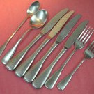 ONEIDA YORKTOWN COLONIAL SQUARE 8pc SSS STAINLESS FLATWARE SILVERWARE