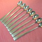 ONEIDA BUTLER TORONTO 8 ICED DRINK SPOONS STAINLESS FLATWARE SILVERWARE