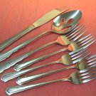 INTERNATIONAL COLONIAL MANOR 7pc STAINLESS FLATWARE SILVERWARE
