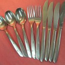 INTERNATIONAL NIGHT SKY AURORA 3SPOONS 2FORKS 4KNIVES SUPERIOR  STAINLESS FLATWARE SILVERWARE