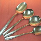INTERNATIONAL PANORAMA or MERCURY Tea Serving &2 Boullon spoons SILCO STAINLESS FLATWARE SILVERWARE