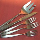INTERNATIONAL NASSAU SALAD &2 PLACE FORKS & KNIFE INSICO STAINLESS FLATWARE SILVERWARE