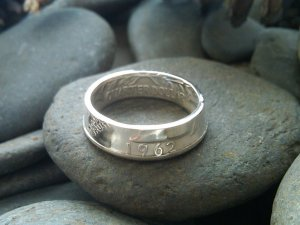 DOUBLE SIDED WASHINGTON QUARTER COIN RING SIZES 4.5-8.5