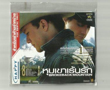 BROKEBACK MOUNTAIN  HEATH LEDGER JAKE GYLLENHAAL ANNE HATHAWAY MOVIE DVD 2005 THAI LANGUAGE