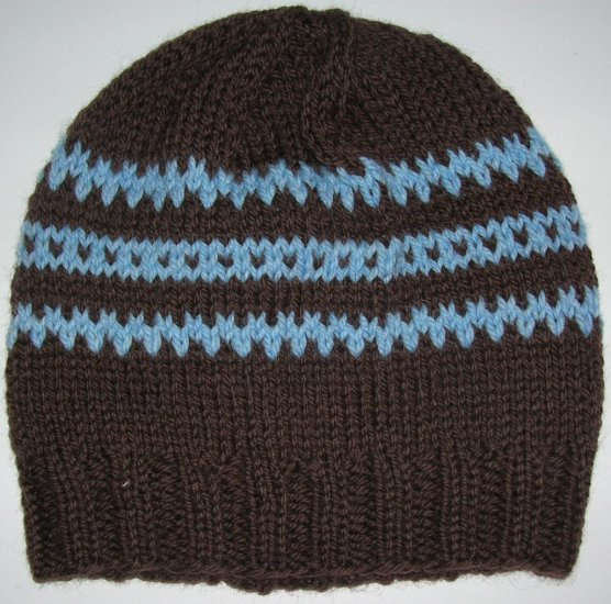 Chocolate Brown/Baby Blue Hat