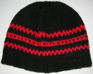 Black/Red Hat