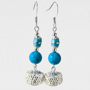 Turquoise & beads earrings
