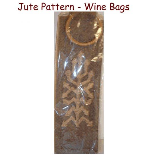 Jute Pattern - Jute Wine Bags
