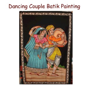 Dancing Couple Batik Painting