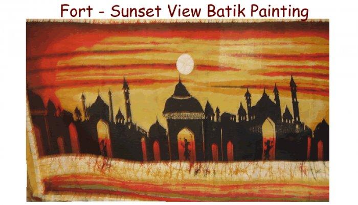 Fort - Sunset View Batik Painting