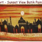 Fort - Sunset View Batik Painting
