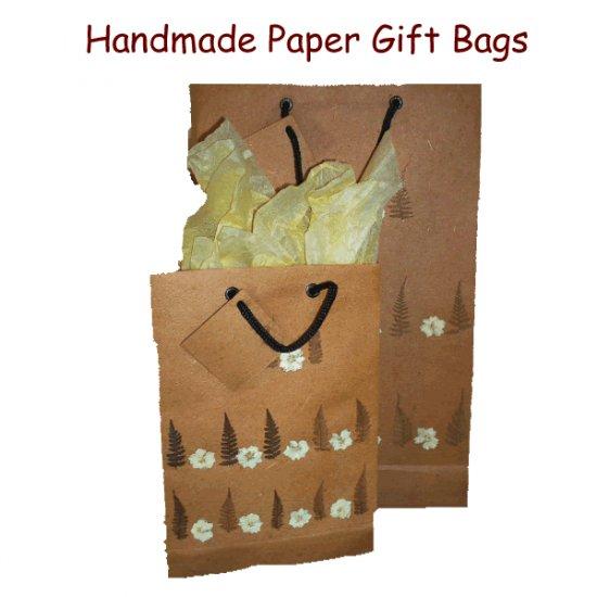 Handmade Paper Gift Bag Set