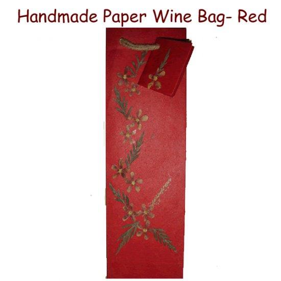 Paper Wine Bag - Red