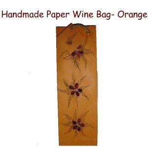 Paper Wine Bags- Orange