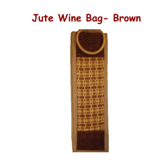 Jute Wine Bags - Patterned