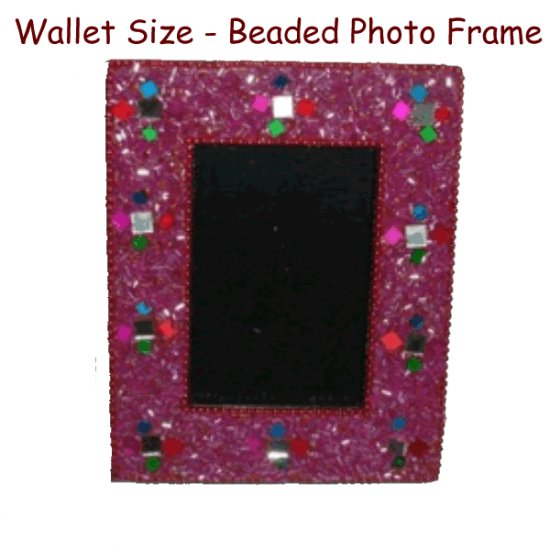Beaded Photo Frame - Wallet Size