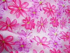 Cotton Fun Pink Floral