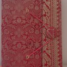 Indian Fabric Cover Handmade Paper Journals- Red