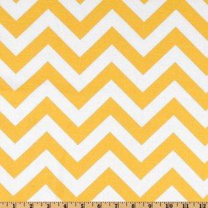 TABLE RUNNER- ZigZag Yellow/White Chevron Print
