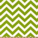 TABLE RUNNER - ZigZag Green/White Chevron Print