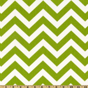 TABLE RUNNER - ZigZag Green/White Chevron Print
