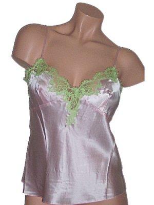 Viamode Pink Silk Camisole Cami Large