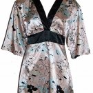 Flora Nikrooz Peach Prints Short Robe Loungewear Small