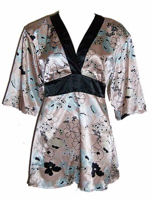 Flora Nikrooz Peach Prints Short Robe Loungewear Small