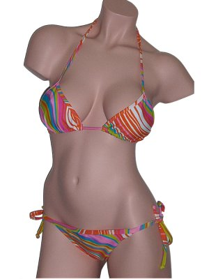 Brazilian Bikini Orange String Side Tie Swimsuit XL