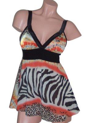 Tricia Fix Jungle Print Babydoll Couture Top Medium