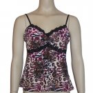Josie Natori Animal Print Camisole Top Shirt Large M55004