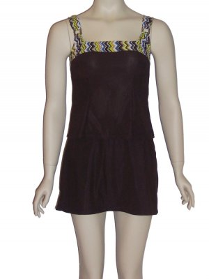 It Figures C Cup & Up Brown Tankini Swimsuit 8