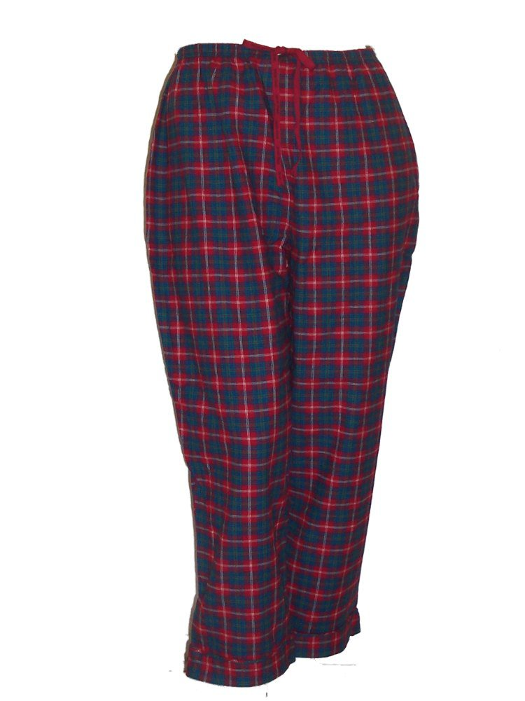 Sleep Sense Portuguese Flannel Lounge Pants Pajamas 1X Wild Cherry