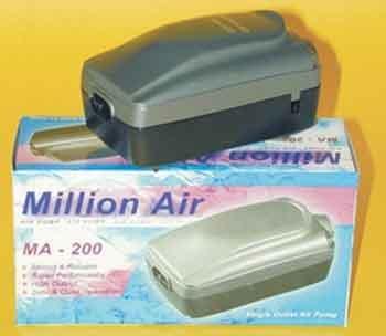 Million Air Ma - 200 Air Pump With Variable Flow Control Knob