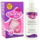 Diva Cup - Model 1 DivaCup Menstrual Solution AND DivaWash - Diva Cup PLUS Diva Wash