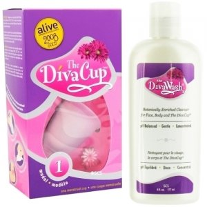 Diva Cup - Model 1 DivaCup Menstrual Solution AND DivaWash - Diva Cup PLUS Diva Wash