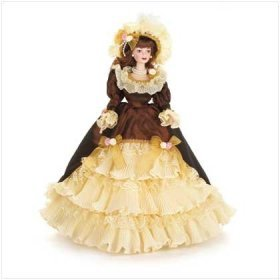 Lovely Collectible Porcelain Autumn Doll New