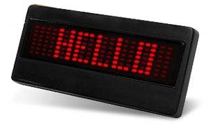 LED Scrolling Message Badge