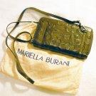 Authentic Mariella Burani Dark Green Leather Handbag