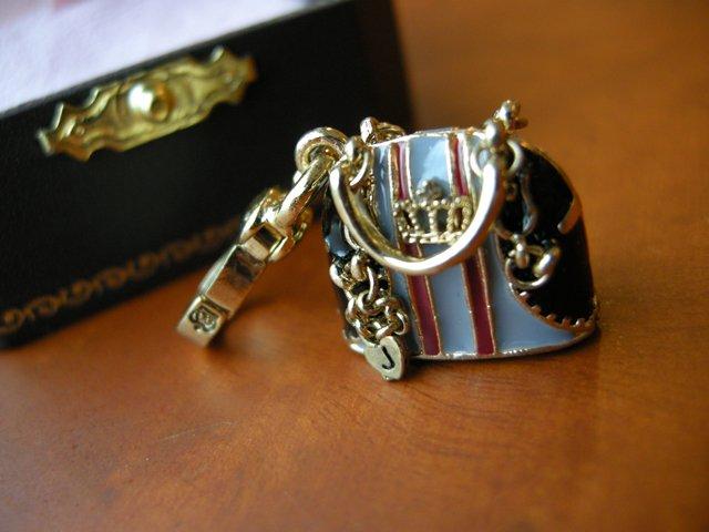 Juicy Couture Black Status Esquestrian Handbag Charm