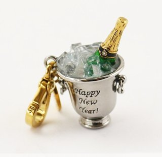 Juicy Couture Champagne Bucket Charm (2010 Limited Edition)