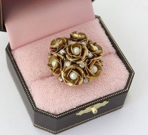 Juicy Couture Rose Cluster Ring (Gold)
