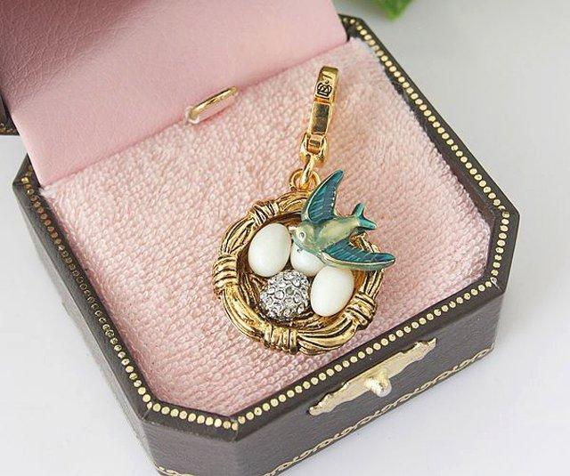 Juicy Couture Sparrow Bird Nest Charm